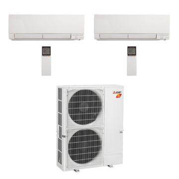Mitsubishi MXZ-5C42NAHZ-2WF-00 - 42,000 BTU Dual-Zone Hyper Heat Wall Mount Mini Split Air Conditioner 208-230V (18-18)