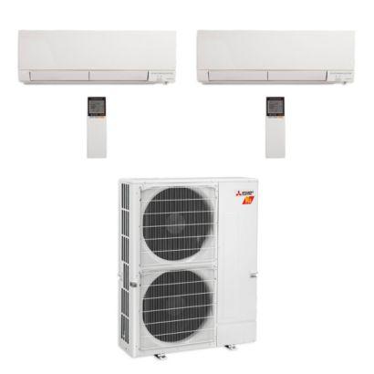 Mitsubishi MXZ-5C42NAHZ-2WF-00 - 42,000 BTU Hyper Heat Dual-Zone Wall Mount Mini Split Air Conditioner 208-230V (18-18)