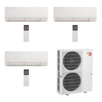 Mitsubishi MXZ-5C42NAHZ-3WF-00 - 42,000 BTU Hyper Heat Tri-Zone Wall Mount Mini Split Air Conditioner 208-230V (9-12-15)