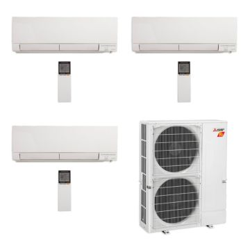Mitsubishi MXZ-5C42NAHZ-3WF-04 - 42,000 BTU Tri-Zone Hyper Heat Wall Mount Mini Split Air Conditioner 208-230V (12-15-15)