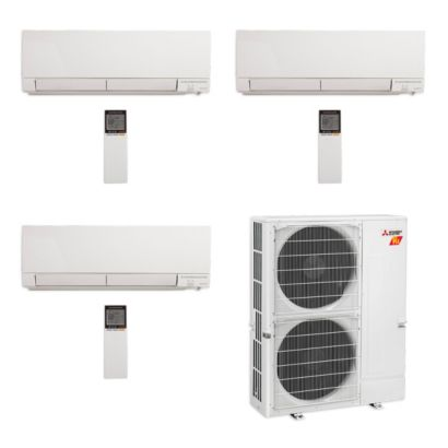 Mitsubishi MXZ-5C42NAHZ-3WF-13 - 42,000 BTU Hyper Heat Tri-Zone Wall Mount Mini Split Air Conditioner 208-230V (15-15-18)