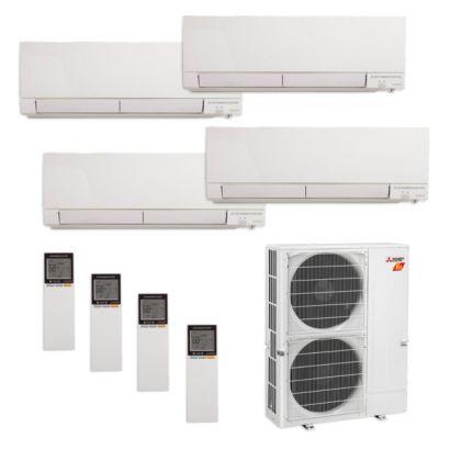 Mitsubishi MXZ-5C42NAHZ-4WF-06 - 42,000 BTU Quad-Zone Hyper Heat Wall Mount Mini Split Air Conditioner 208-230V (9-12-12-12)