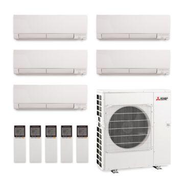 Mitsubishi MXZ-5C42NAHZ-5WF-00 - 42,000 BTU Penta-Zone Hyper Heat Wall Mount Mini Split Air Conditioner 208-230V (9-9-9-9-9)