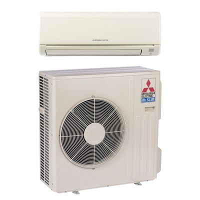 mitsubishi mzd36na btu 145 seer mr slim wall mount ductless mini split air conditioner heat pump 208230v