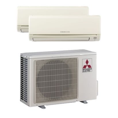 Mitsubishi MXZ2B20NA12004 - 18,000 BTU Dual-Zone Wall Mount Mini Split Air Conditioner Heat Pump 208-230V (9-9)