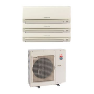 Mitsubishi MXZ3B24NA13002 - 22,000 BTU MR SLIM Tri-Zone Wall Mount Mini Split Air Conditioner Heat Pump 208-230V (6-6-9)