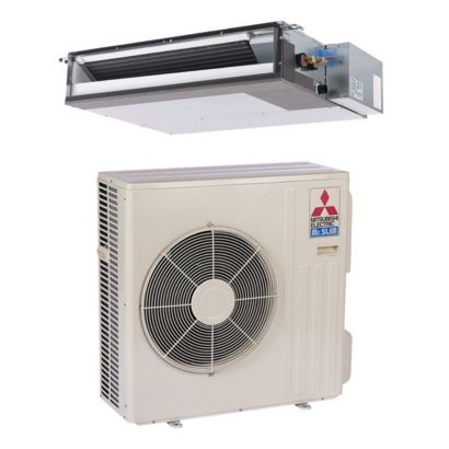 Mitsubishi SZ-K12NA - 12,000 BTU 16 SEER MR SLIM Concealed Duct Ductless Mini Split Air Conditioner Heat Pump 208-230V