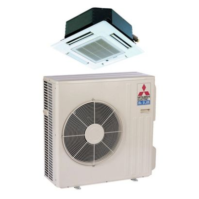 Mitsubishi SZ-KA12NA - 11,100 BTU MR SLIM Ceiling Cassette Ductless Mini Split Air Conditioner Heat Pump 208-230V