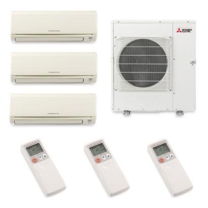 Mitsubishi MXZ5B42NA3041- 40,800 BTU Tri-Zone Wall Mount Mini Split Air Conditioner Heat Pump 208-230V (6-12-24)