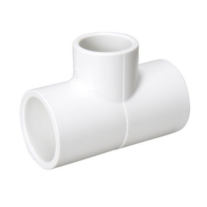 "Streamline 401-020 - 2"" PVC Schedule 40 Pressure Fitting - Slip x Slip x Slip Tee"
