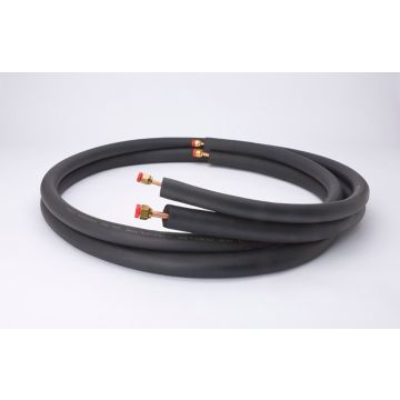 "Streamline 40820500B3B6 - 1/4"" OD x 1/2"" OD -1/2"" Insulation, 50' Length, Flare Fitting Mini-Split Line Set"