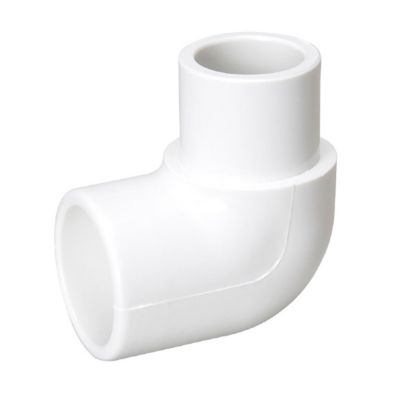 "Streamline 409-010 - 1"" PVC Schedule 40 Pressure Fitting - Slip x SPIG 90° Street Elbow"