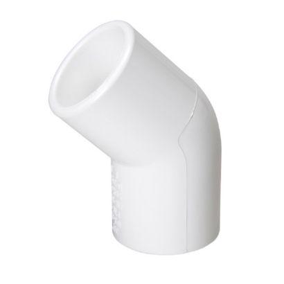 """Streamline 417-020 - 2"""" PVC Schedule 40 Pressure Fitting - Slip x Slip 45° Elbow"""