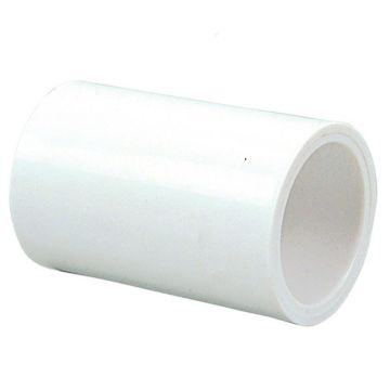 "Streamline 429-025 - 2 1/2"" PVC Schedule 40 Pressure Fitting - Slip x Slip Coupling"
