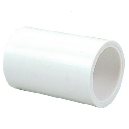 "Streamline 429-025 - 2 1/2"" PVC Schedule 40 Pressure Fitting - Slip x Slip Coupling"