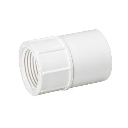 "Streamline 435-015 - 1-1/2"" PVC Schedule 40 Pressure Fitting - Slip x FPT Adapter"
