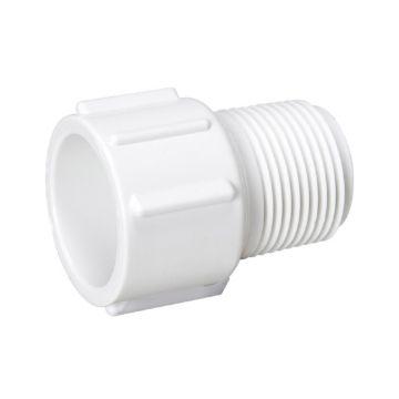"Streamline 436-012 - 1-1/4"" PVC Schedule 40 Pressure Fitting - Male Slip x MPT Adapter."