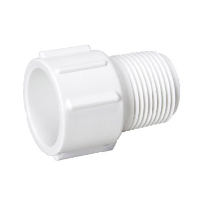 "Streamline 436-015 - 1-1/2"" PVC Schedule 40 Pressure Fitting - Slip x MPT Adapter"