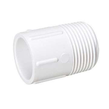 "Streamline 436-131 - 1"" x 3/4"" PVC Schedule 40 Pressure Fitting - MPT x RS Adapter"