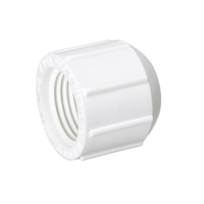 "Streamline 448-007 - 3/4"" PVC Schedule 40 Pressure Fitting - FPT Threaded Dome Cap"