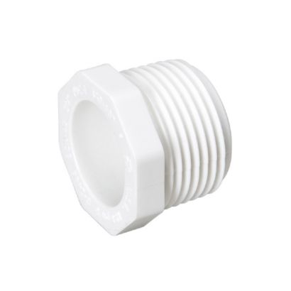 "Streamline 450-010 - 1"" PVC Schedule 40 Pressure Fitting - Threaded MPT Plug"
