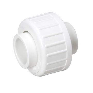 "Streamline 457-007 - 3/4"" PVC Schedule 40 Pressure Fitting - Slip x Slip with Buna O-Ring Union"
