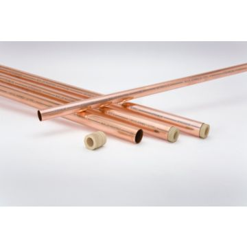 "Streamline AC12020 - 1-3/8"" OD x 20' ACR Copper Tube Nitrogen Charged"