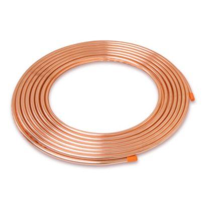 "Streamline D 18100 - 1-1/8"" OD x .050 x100' Copper Tube Coil Nitrogen Purged"