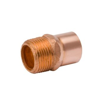 "Streamline W 01125R - 1/2"" OD x 3/8"" Male Adapter Copper Fitting"