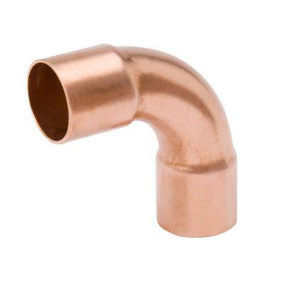 """Streamline W 02749 - 1-1/8"""" OD x 7/8"""" OD Long Radius 90° Elbow, Copper Fitting"""