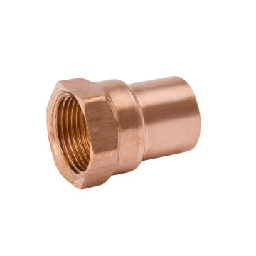 "Streamline W 01263R - 1-1/8"" OD x 1"" Female Adapter Copper Fitting"