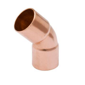 """Streamline W 03059R - 2-1/8"""" OD 45° Elbow, Copper Fitting"""