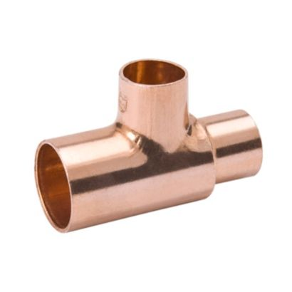 "Streamline W 04035R - 7/8"" x 7/8"" x 3/8"" OD Reducing Tee, Copper Fitting"