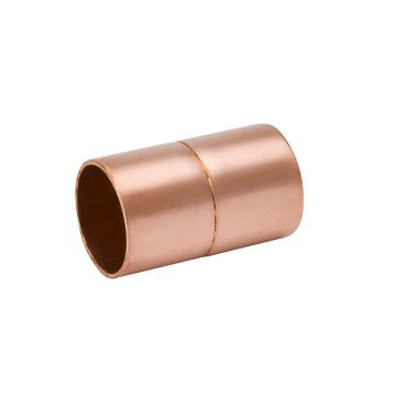 "Streamline W 10147 - Copper Fitting - 1-1/8"" OD Stake-Stop Coupling"