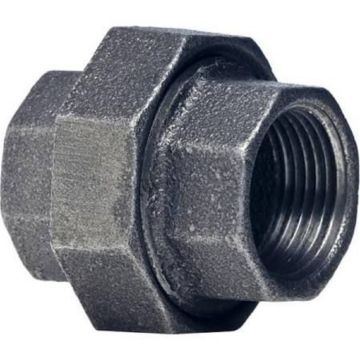 "Southland 521-703 - 1/2"" Union Black 150Lb. Malleable Iron Fitting"