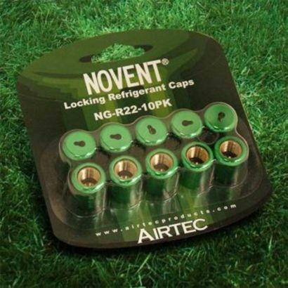 "Novent® 86661 -  1/4"" R22 Green Locking Caps -10 Pk"