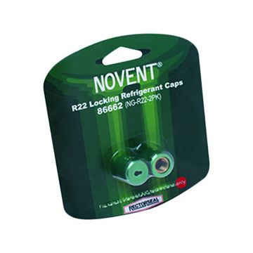 "Novent® 86662 -  1/4"" R22 Green Locking Caps - 2 Pk"