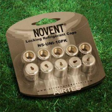 "Novent® 86691 -  1/4"" Universal Silver Locking Caps 10-Pk"