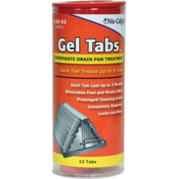 Nu-Calgon Gel Tabs HVAC Drain Pan / Line Treatment