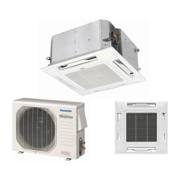 Panasonic KE12NB41 - 11,900 BTU 16 SEER Ceiling Cassette Ductless Mini Split Air Conditioner Heat Pump 115V