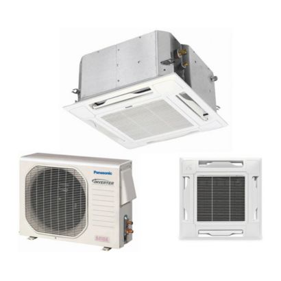 Panasonic® KE12NB41 - 11,900 BTU 16 SEER Ceiling Cassette Ductless Mini Split Air Conditioner Heat Pump 115V