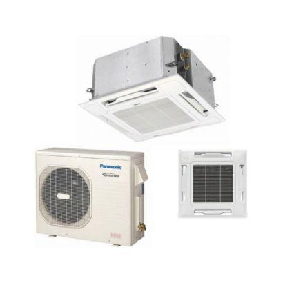 Panasonic® KE18NB4U - 17,500 BTU 16 SEER Ceiling Cassette Ductless Mini Split Air Conditioner Heat Pump 208-230V