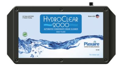 Plexaire HC-2000 - Auto Daily & Manual Flush Condensate Drain Cleaning System 12 VDC