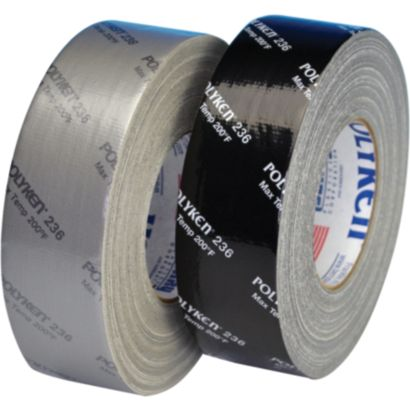 Polyken 1086434 - Black Premium Duct Tape-Printed