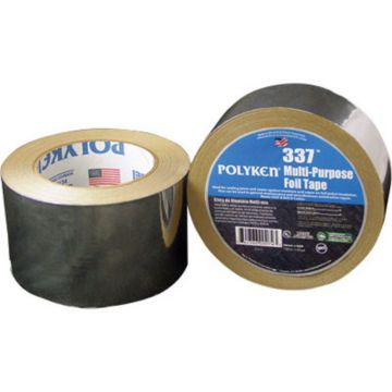 Polyken 1087625 - Multi-Purpose Plain Aluminum Foil Tape 48mm x 46m