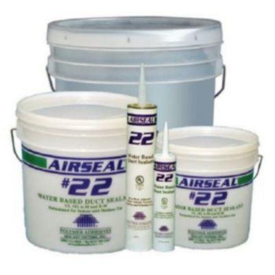 Polymer Adhesives AS22-1(G) - Airseal #22-1 Grey, Water Based Duct Sealant