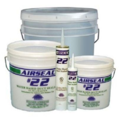 Polymer Adhesives AS22-1(G) - Airseal #22-1 Grey, Water Based Duct Sealant