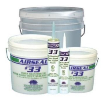 Polymer Adhesives AS33-1(W) - Airseal #33-1 White, Fiber Reinforced Water Based Duct Sealant