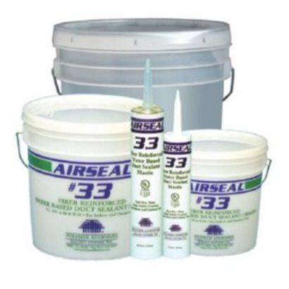 Polymer Adhesives AS33-T(W) - Airseal #33-T White, Fiber Reinforced Water Based Duct Sealant