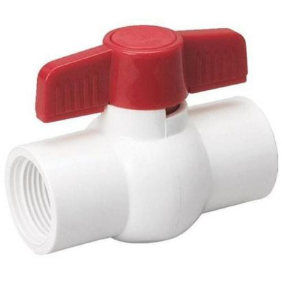 "ProLine 107-634 - 3/4"" SOL Schedule 40 White PVC Ball Valve - 150 PSI"